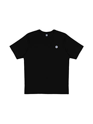 NORTH SAILS T-Shirt in Jersey di Cotone in Nero 3XL