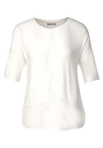 Street One Damen Shirt mit Materialmix Off White 42
