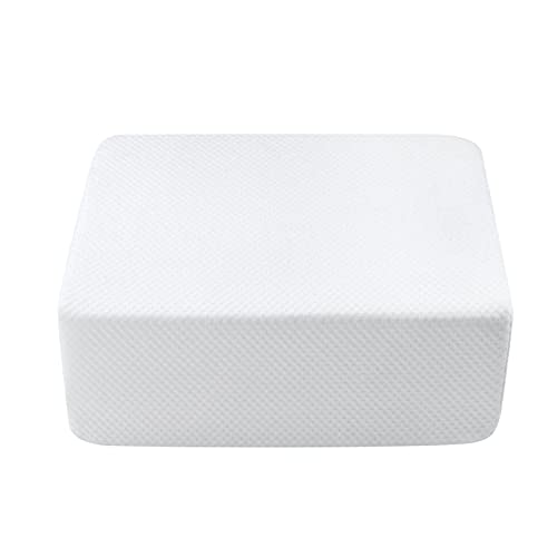 Pillow Square for Side Sleepers,The Cube Pillow Ergonomic Memory Foam Pillow Supportive Head Cushion Thicker and Firmer Pillow for Vertebral Protection 15X12X6 Inch
