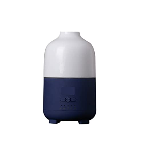 jwj Mejor humidificador humidificador humidificador de aire 500 ml ultrasónico aroma difusor de aceite esencial Cool Mist Maker aromaterapia humidificadores aceites esenciales (color: azul)