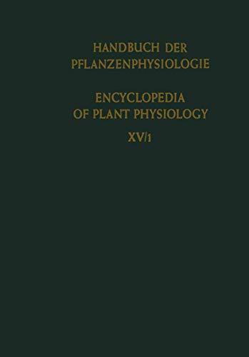 Differenzierung und Entwicklung / Differentiation and Development (Handbuch der Pflanzenphysiologie Encyclopedia of Plant Physiology (15))