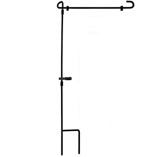 Y56(TM) Eisenflagge Pole Flaggenständer Banner Halterung Garten Draussen Hof, 87 x 38 cm, Schwarz