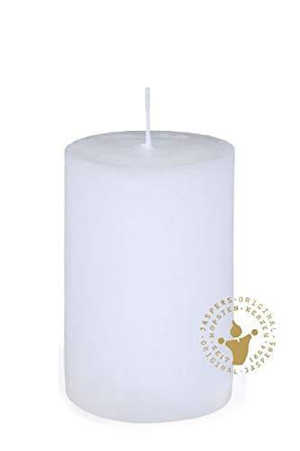 Rustik Kerzen, Nordische Reifkerzen, durchgefärbte Kerzen weiß 150 x 80 mm, 1 Stück