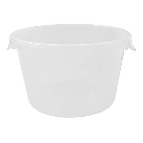 주방 | 식품 준비 | 보관 12 쿼트 투명 컨테이너 전용 (FG572624CLR)을위한 고무책 상용 제품 플라스틱 라운드 식품 저장 용기