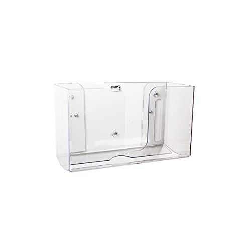 TrippNT 51912 Shatterproof Dual Dispensing Paper Towel Holder, Clear, PETG, 10 7/8 X 6 1/2 X 4 1/4 inches WHD