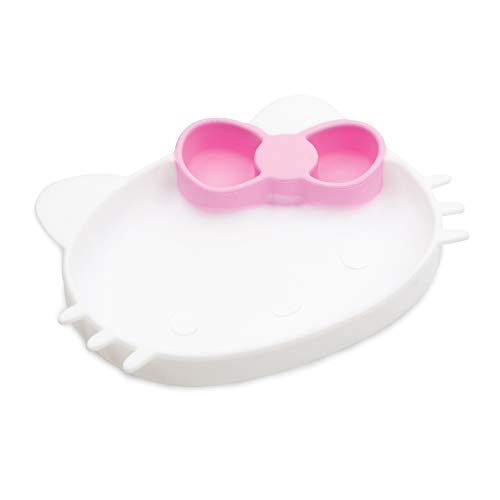 Bumkins Silicone Grip Dish - Hello Kitty - Sanrio Kitty Face New GD-SHK