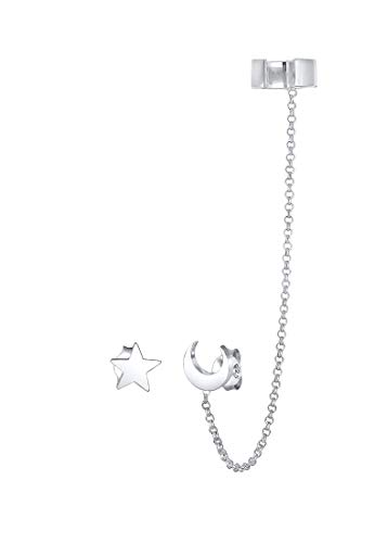 Elli Ohrringe Earcuff Astro Sterne Halbmond Blogger 925 Silber