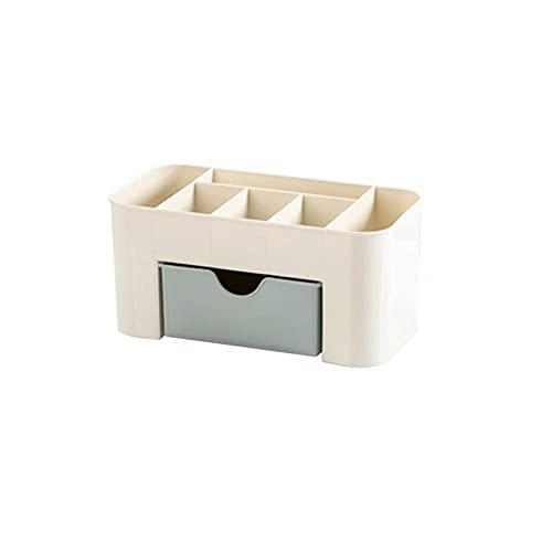 Organizador de maquillaje portátil Caja de almacenamiento Organizador de maquillaje Organizadores de cosméticos Ahorro de espacio Cajones de almacenamiento de escritorio Tipo Box-Blue, Estados Unidos