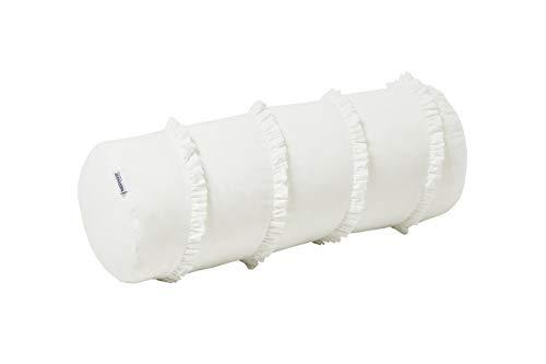 Hoppekids Winter Wonderland Kissenrolle, Baumwolle, Weiß, 70 x 23 x 23 cm