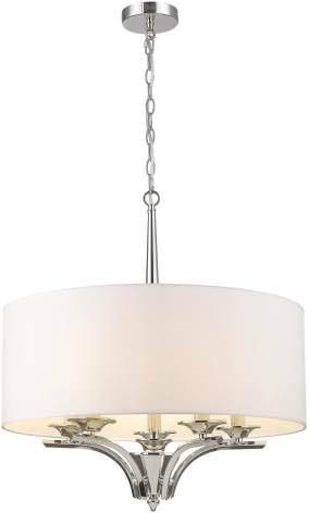 Cosmolight ATLANTA P05803NI - Lámpara de araña (5 bombillas de 40 W, E14, IP20)