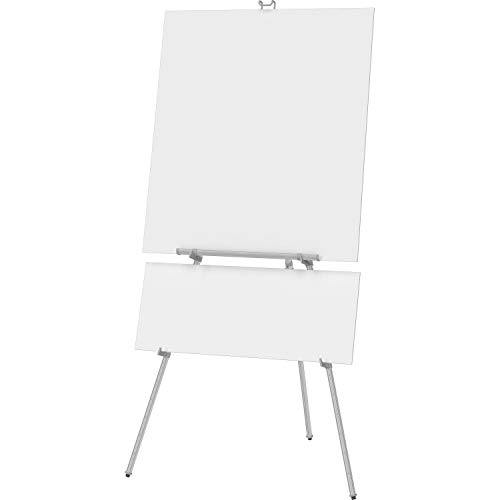 """Quartet Easel, Aluminum, Heavy-Duty, Telescoping, 66"""" Max. Height, Supports 45 Lbs, Silver (55EX)"""