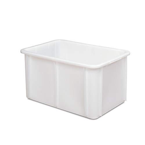Schwerlastbehälter im Euroformat, weiß, lebensmittelecht, LxBxH 600 x 400 x 320 mm, 60 Liter