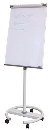 Betzold 74790 - Flipchart-Ständer mobil auf Rollen, magnetisch - Whiteboard Memo-Board Magnettafel Moderations-Tafel