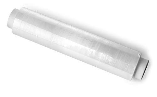 KADAX Stretchfolie, Verpackungsfolie, 3 kg Rolle, 300 m x 50 cm, feste Palettenfolie, Handfolie, Wickelfolie für Möbel, Lager, Transport, Umzugsfolie, Plastikfolie, klebend (transparent)