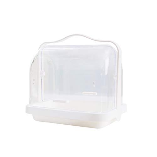 BESTONZON Gewürzständer mit Griff Deckel Küche Staubdicht Aufbewahrungsbox für Gewürz Brot Babyflasche