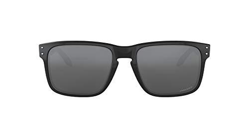 Oakley Men's Holbrook 0OO9102 Polarized Iridium Square Sunglasses, POLISHED BLACK, 55.01 mm