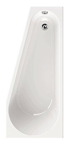 \'aquaSu® I Acryl - Badewanne laPino I 160 x 70 cm I Weiß I Links I Wanne I Badewanne I Bad I Badezimmer