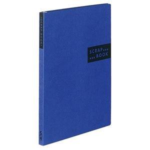 (まとめ) コクヨ スクラップブックS(スパイラルとじ・固定式) A4 中紙40枚 背幅20mm 青 ラ-410B 1冊 【×10セット】
