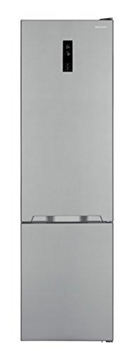 Sharp SJ-BA20IEXI2-EU Kühl-Gefrier-Kombination /A++ / Höhe 210 cm / Kühlteil 266 L / Gefrierteil 94 L / LED-Display / Null-Grad-Zone / Gemüse-/Obstschubfach mit Feuchteregler / Edelstahl