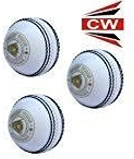 CW Spin White Cricket Soft Balls Training & Practice Poly Synthetic Ball