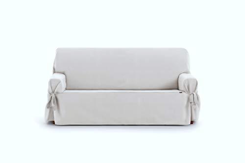 Eysa Levante Funda de sofá, Algodón, Blanco, 3 PLAZAS