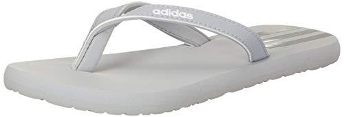 adidas Damen Eezay Flip Flop Running Shoe, Halo Silver Iridescent Ftwr White, 40.5 EU