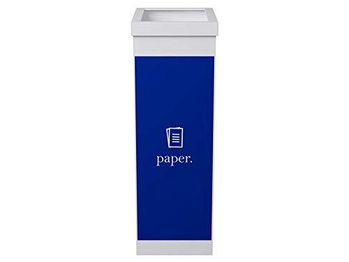 Paperflow Papelera 60L Azul Reciclaje selectivo para Papel. P