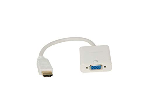 Alda PQ HDMI naar VGA Adapter Kabel HDMI naar VGA Connector compatibel voor Computer, Desktop, Laptop, PC, Monitor, Projector, HDTV, Notebooks in wit