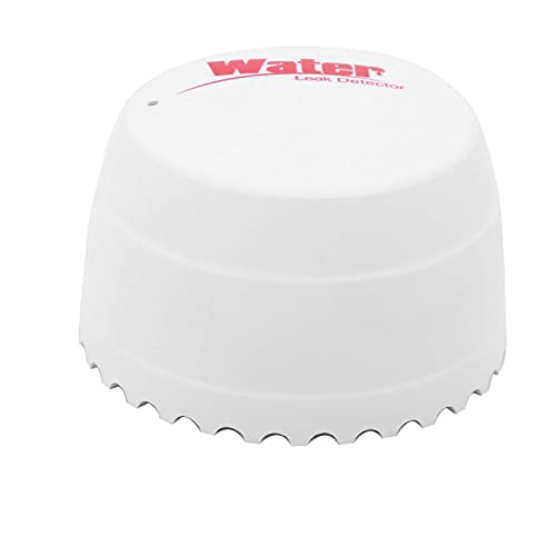 3V Wifi Wireless Water Leakage Alarm, Water Detector, Overflow Alarm Red LED Indicator Works, with Tuya, for Apartments, Warehouses, Offices, Laboratories, Hotels