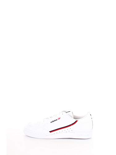 adidas Unisex-Kinder Continental 80 J Sneaker, Weiß (Footwear White/Scarlet/Collegiate Navy 0), 36 EU