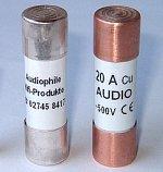 AHP Zylindrische Audio-Sicherung 14x51 mm mit CE für Klangmodule | Stromstärke: 50 Ampere | Kappen: Kupfer