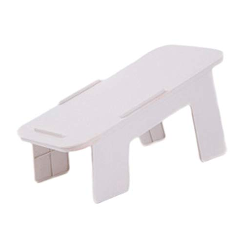 Almacenamiento del hogar Zapatero Plástico Estante de almacenamiento de zapatos plegable integrado (blanco)