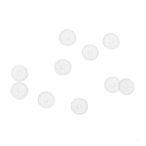 sourcingmap 10 Stück Weiß 3mm x 1mm Silikon O-Ringe Dichtungsringe Unterlegscheibe de