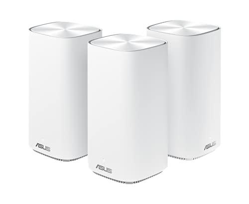 Asus Zen WiFi CD6, Confezione da 3 Pezzi, Sistema Wi-Fi Mesh AC1500 Dual-band Copertura fino a 360 m², Internet security e Parental Control Inclusi a Vita, 4X Porte Gigabit, 3 SSIDs