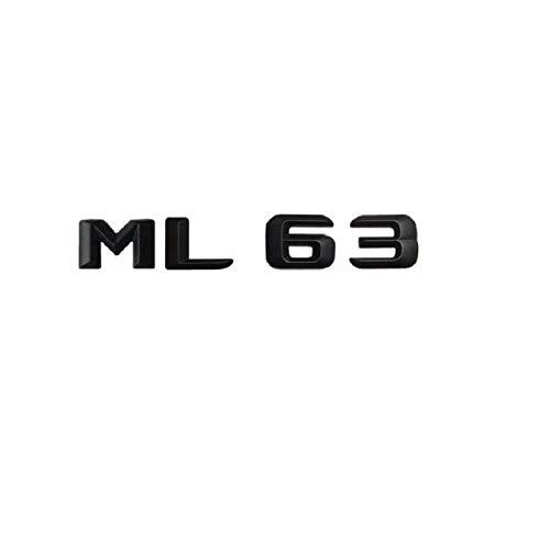 OceanAutos Für Mercedes Benz ML Klasse ML63 AMG, Matt Schwarz ML 63' Auto Kofferraum Hinterbuchstaben Wörter...