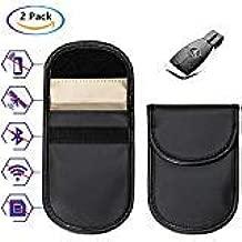 Wemk 2 Pack Car Key Signal Blocker Case Keyless Entry Fob Guard Faraday Bag Signal GSM Blocking Case Pouch (2 Pack)