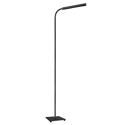 AUKEY Lámpara de Pie LED, Lámpara Táctil con Regulación Continua del Brillo, Cuello Flexible y Cuidado de Ojos, Luz Blanca Natural para Salón y Dormitorio