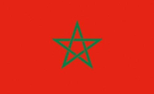 FRIP- XXL Riesenfahne Marokko FAN 2,50 x 1,50m Flagge Fahnen mit Ösen