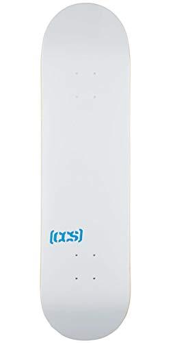 CCS Logo Blank Skateboard Deck White 7.75'