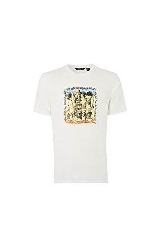 O'NEILL LM Tiki Surf Camiseta Manga Corta, Hombre, Blanco (Powder White), L