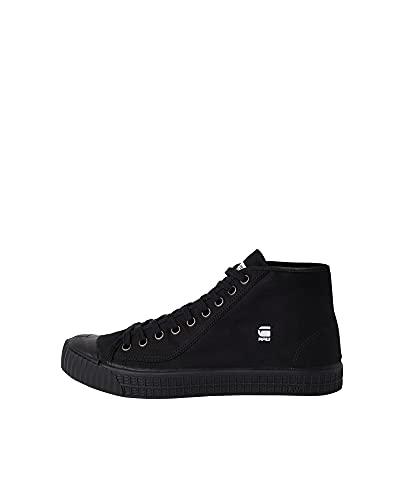 G-STAR RAW Rovulc Denim Mid Sneakers, Zapatillas Hombre, Negro (Black (Black 990) 990), 44 EU