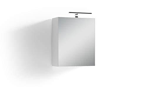 Homexperts Salsa Spiegelschrank, Weiß, 50 x 60 x 20cm (BxHxT)