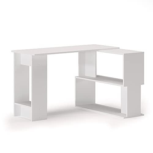 Vicco Eckschreibtisch Schreibtisch Computertisch Gates L-Form Bürotisch PC-Tisch