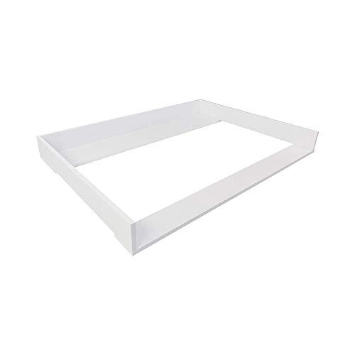 Puckdaddy fasciatoio Odin - 108x80x10 cm, fasciatoio in legno bianco, piano fasciatoio di alta qualità adatto alle cassettiere IKEA Hemnes, incl. materiale di fissaggio per il montaggio a muro