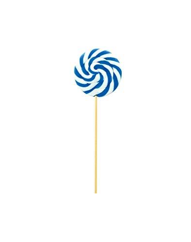Lecca Lecca Bianco e Azzurro Whirl Espositore da 24 pezzi - Misure Lecca Lecca: Diametro cm 6,5 peso 40g - Gusto Frutta