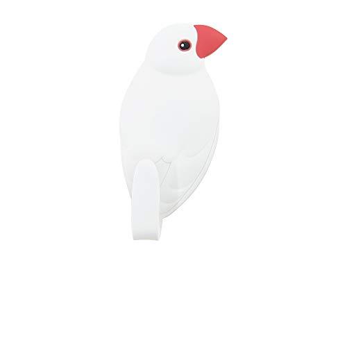 東洋ケース フック マグネット 磁石 アニマルティル 8白文鳥 MH-AN-08