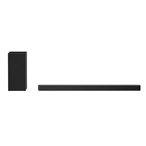 LG Sound Bar High Resolution Audio (24bit/96kHz) Speaker, 3. 1 Channel with 420W Total Power, DTS Virtual:X, AI Sound Pro, Bluetooth, HDMI ARC - Black