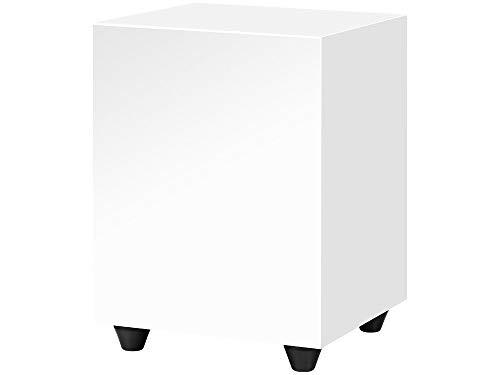 Pro-Ject Sub Box 50, kompakter aktiver Subwoofer mit Low und High Level Input (Weiß)