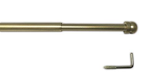 tilldekor Messingstange, ausziehbare Gardinenstange, Messing-matt, 30-50 cm
