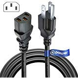 T-Power UL Listed 10FT Extra Long 3 Prong AC Power Cord Compatible with ION iPA76C iPA76A iPA76S IPA23 Block Rocker Block Party & Live Job Rocker Pathfinder,Explorer Bluetooth Portable Speaker System